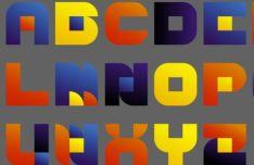 Colorful Geometric Font