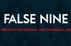 False Nine Typeface