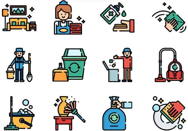 50 Cleaning Icons Pack