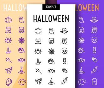 27 Vector Halloween Icons