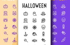 27 Vector Halloween Icons