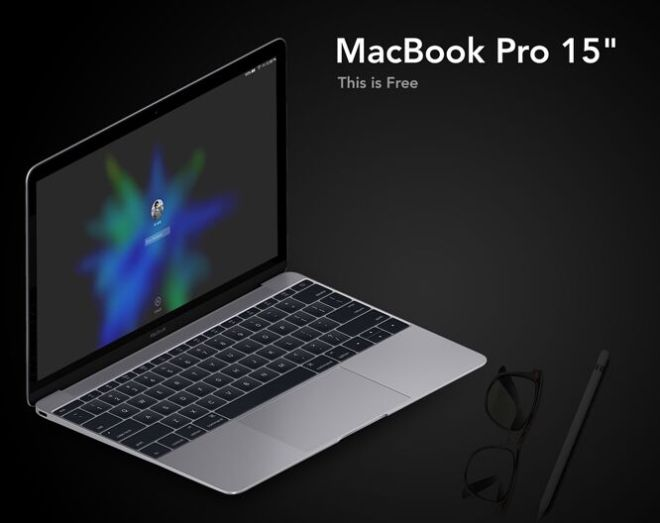 Photorealistic MacBook Pro 15 Mockup PSD