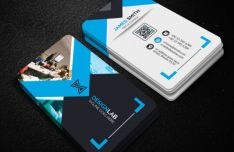 Realistic Business Card Templates (3 Colors) PSD