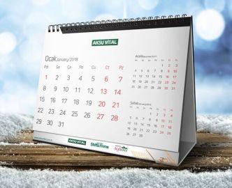 Realistic Desk Calendar 2018 Template