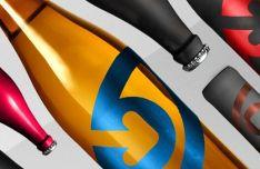 Modern Liqueur Bottle PSD Mockup