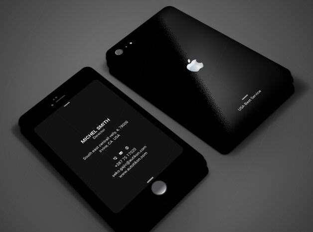Dark iPhone Style Business Card Template