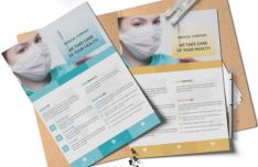 2 Medical Company Templates Vector