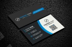 Elegant Dark Corporate Business Card PSD Template