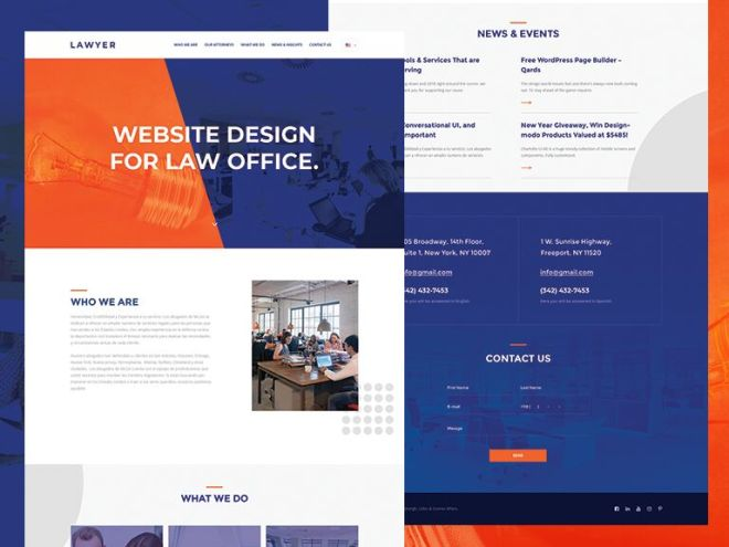 Lawyer Web Template PSD