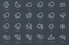 24 Creative Weather Vector Icons