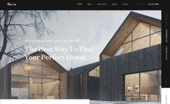 Creative Real Estate Landing Page PSD Template