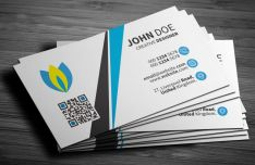 Light Clean Corporate Business Card PSD Template