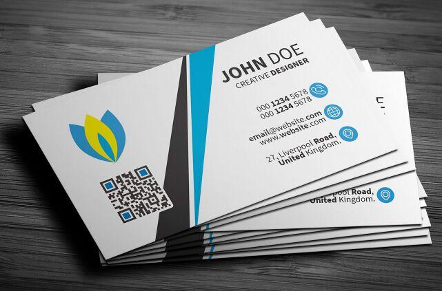 Light Clean Corporate Business Card PSD Template