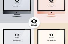 iMac Templates For Photoshop (4 Colors)
