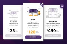 Elegant Store Pricing Table Template PSD