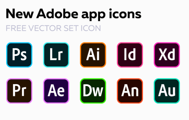 10 Brand New Adobe CC App Icons (SVG)