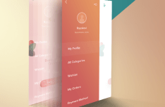 Perspective App Screen PSD Template