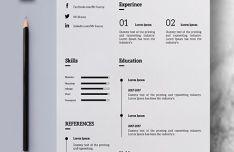 Clean Simple Resume Photoshop Mockup