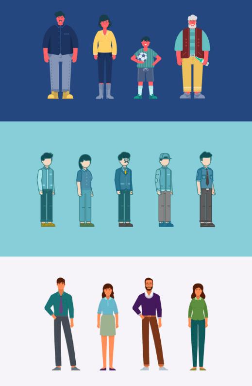 Flat Character Set Vector