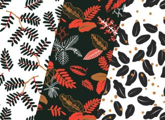 Vintage Leaves Patterns Vector