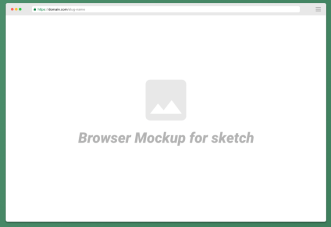 Minimal Web Browser Mockup For Sketch