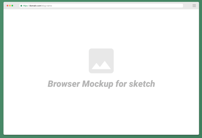 Minimal Web Browser Mockup For Sketch