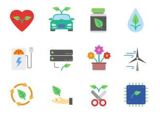Flat Ecology Icon Pack