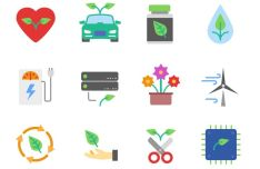 Flat Ecology Icon Pack