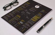 Dark Digital Resume PSD Template