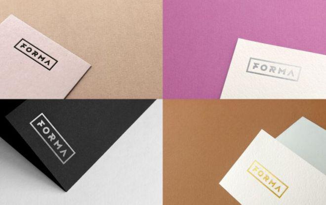Elegant Paper Logo Mockups PSD