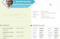 High-res Designer Resume CV Mockup PSD