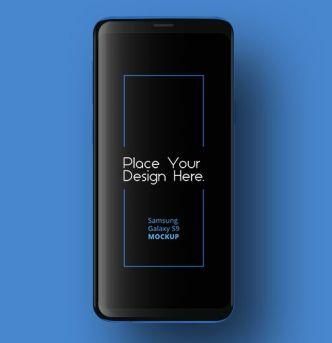 Dark Standing Samsung Galaxy S9 PSD Mockup
