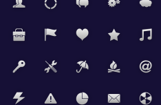 20 Customizable PSD Icons