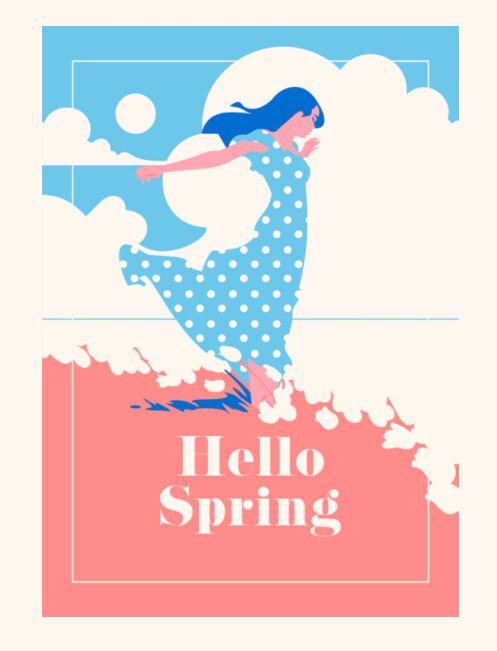 Spring Time Vector Poster
