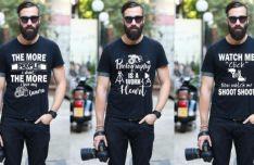 Photography T-Shirt PSD Mockup