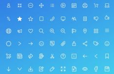 100 UI Line Icons For XD