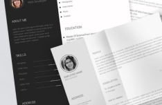 Editable Print-ready Resume CV Template PSD