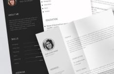 Editable Print-ready Resume CV Template PSD