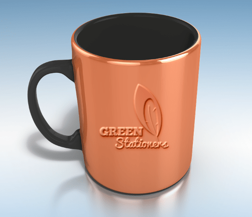 Sleek Coffee Tea Mug PSD Mockup