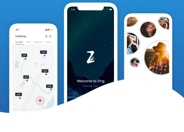 Travel Social Network Mobile UI Kit For Sketch