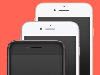 Photorealistic iPhone 8 PSD Mockups