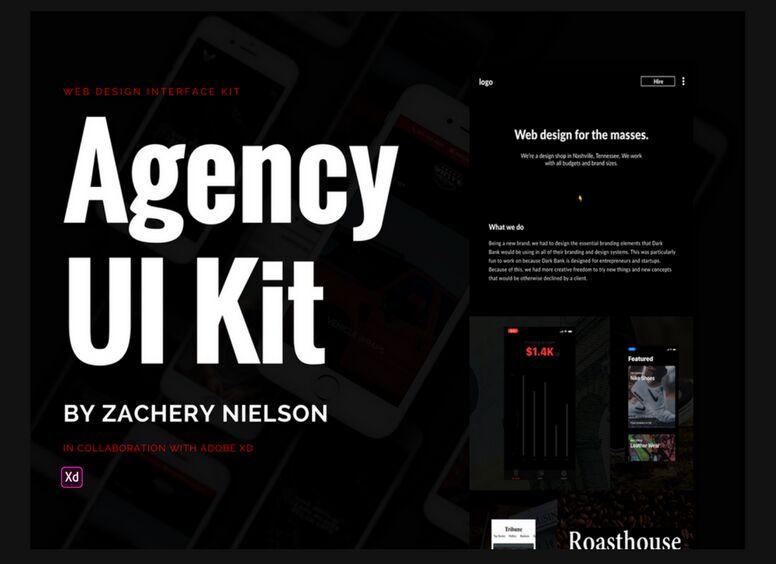 Free Dark Agency Ui Kit For Adobe Xd Titanui