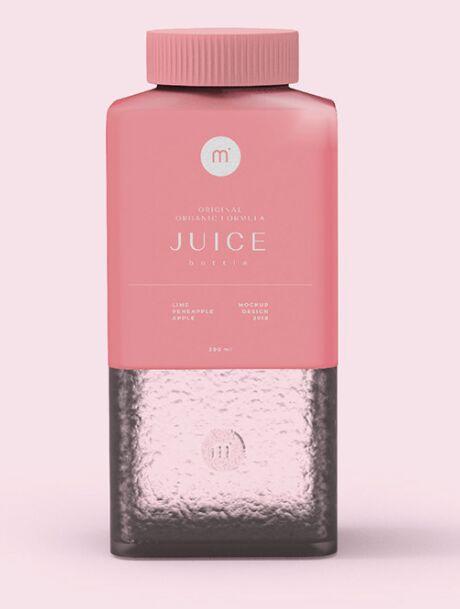 Orignal Organic Formula Juice Bottle PSD Mockup