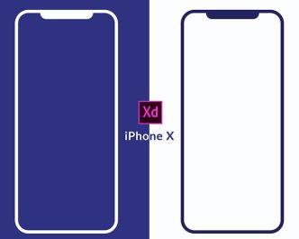 Minimalist iPhone X Wireframes Mockup PSD