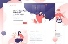 Freelance Landing Page Template PSD