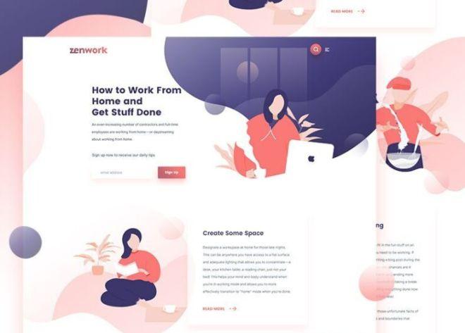Freelance Landing Page Template PSD