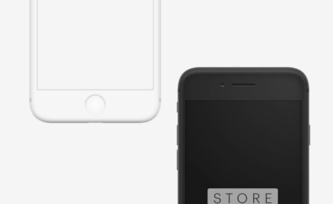 iPhone 8 And iPhone X Clay Mockups