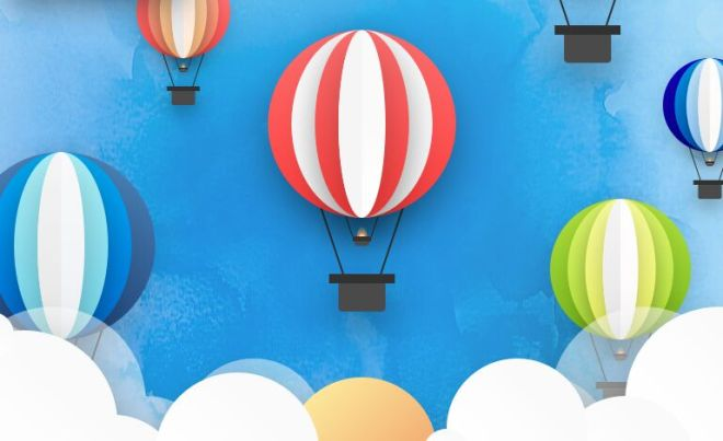 Hot Air Balloon Illustration For Sektch-min