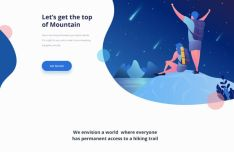 Hiking Landing Page Templates PSD-min