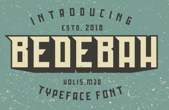 BEDEBAH Font-min